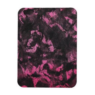 Schwarze Tinte auf rosa Hintergrund Magnet