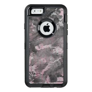 Schwarze Tinte auf rosa Leuchtmarker OtterBox iPhone 6/6s Hülle