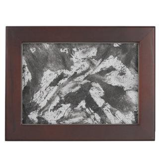 Schwarze Tinte auf weißem Hintergrund #2 Erinnerungsdose