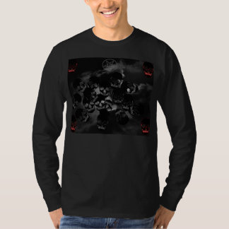Schwarze Totenköpfe T-Shirt