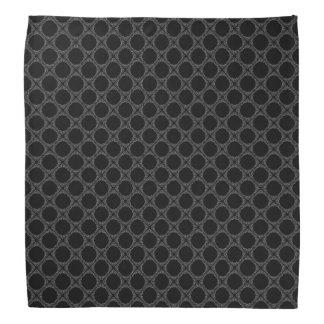 Schwarze Tupfen auf grauem Retro Muster Halstuch