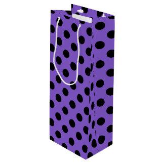 Schwarze Tupfen auf Lavendel Geschenktüte Für Weinflaschen