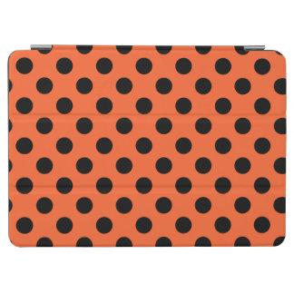 Schwarze Tupfen auf Orange iPad Air Hülle