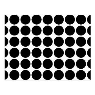 Schwarze Tupfen auf Weiß Postkarte