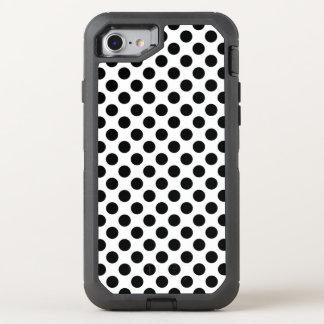 Schwarze Tupfen OtterBox Defender iPhone 8/7 Hülle