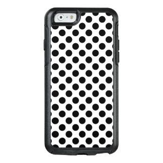 Schwarze Tupfen OtterBox iPhone 6/6s Hülle