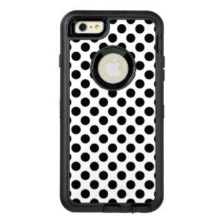 Schwarze Tupfen OtterBox iPhone 6/6s Plus Hülle