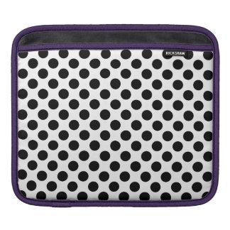 Schwarze Tupfen Sleeve Für iPads