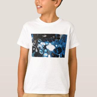 Schwarze u. blaue Blasen T-Shirt