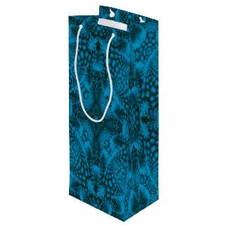 Schwarze u. blaue Vintage Kaleidoskop-Wein-Taschen Geschenktüte Für Weinflaschen