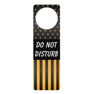 Schwarze u. gelbe Tupfen | stören nicht Zeichen