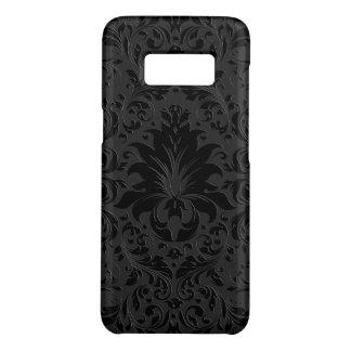Schwarze u. graue einfarbige Blumenverzierung 3 Case-Mate Samsung Galaxy S8 Hülle