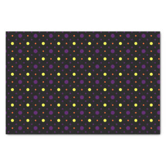 Schwarze u. multi Größen-Tupfen 01 Seidenpapier