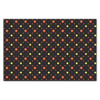 Schwarze u. multi Größen-Tupfen 02 Seidenpapier