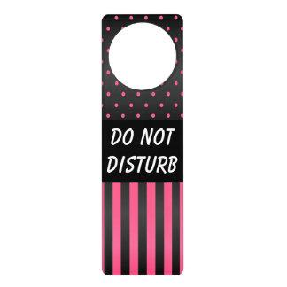 Schwarze u. rosa Tupfen | stören nicht Zeichen
