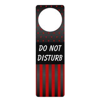 Schwarze u. rote Tupfen | stören nicht Zeichen