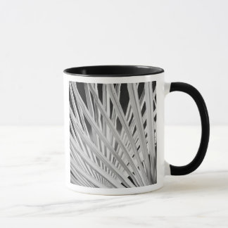 Schwarze u. weiße Ansicht der Palmewedel Tasse