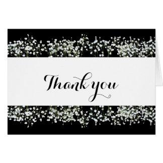 Schwarze u. weiße Babys Atem-Hochzeit danken Ihnen Karte