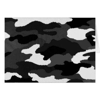 Schwarze u. weiße Camouflage Karte