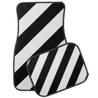 Schwarze u. weiße diagonale Streifen Automatte