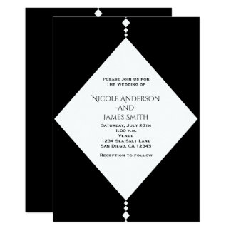 Schwarze u. weiße Diamant-schicke Karte