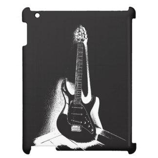 Schwarze u. weiße E-Gitarre - iPad Fall iPad Hülle