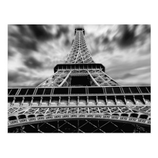 Schwarze u. weiße Eiffelturm-Paris-Franzose-Reise Postkarte