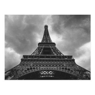 Schwarze u. weiße Eiffelturm-Paris-Franzose-Reise Postkarten
