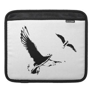 Schwarze u. weiße Fliegen-Vögel - Tablet Hülse Sleeve Für iPads