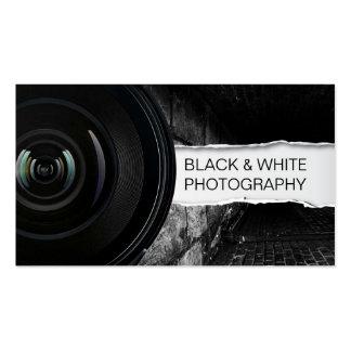 Schwarze u. weiße Fotografie-Visitenkarte der