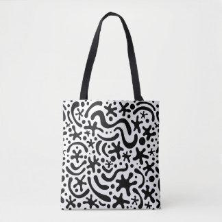 Schwarze u. weiße Funky Blob-u. Tasche