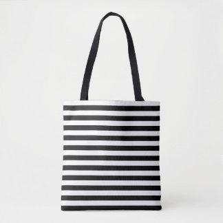 Schwarze u. weiße gestreifte Taschen-Tasche Tasche