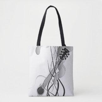 Schwarze u. weiße Gitarren-Tasche Tasche