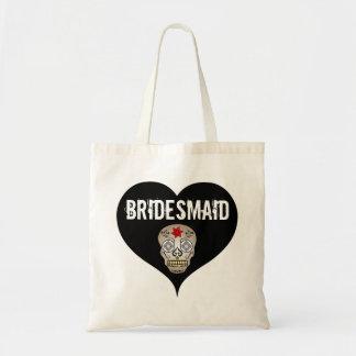 Schwarze u. weiße gotische Hochzeit mit Budget Stoffbeutel