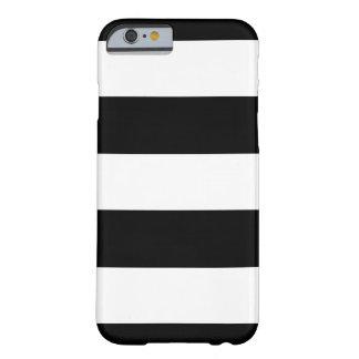 Schwarze u. weiße horizontale Streifen | irgendein Barely There iPhone 6 Hülle