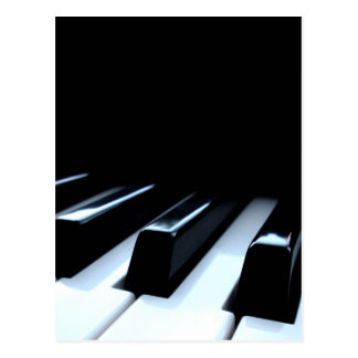 Schwarze u. weiße Klavier-Schlüssel Postkarte