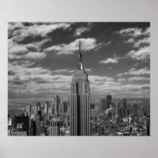 Schwarze u weiße Landschaft von New- York CitySky Plakate