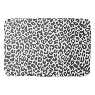 Schwarze u. weiße Leopard-Druck-Tierhaut-Muster Badematte