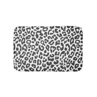 Schwarze u. weiße Leopard-Druck-Tierhaut-Muster Badematten
