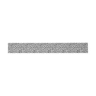 Schwarze u. weiße Leopard-Druck-Tierhaut-Muster Einladungsbanderole