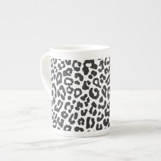 Schwarze u. weiße Leopard-Druck-Tierhaut-Muster Porzellantasse