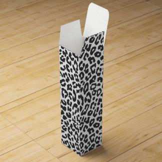 Schwarze u. weiße Leopard-Druck-Tierhaut-Muster Weinbox