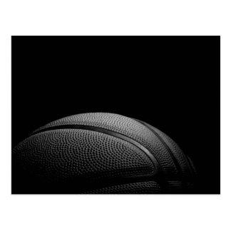 Schwarze u. weiße Nahaufnahme-Basketball-Postkarte Postkarte