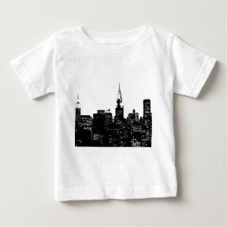 Schwarze u. weiße New- YorkSilhouette Baby T-shirt