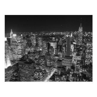 Schwarze u. weiße New- Yorkwolkenkratzer Postkarte
