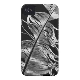 Schwarze u. weiße photographische Feder-Kunst iPhone 4 Case-Mate Hülle