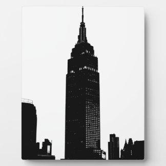 Schwarze u. weiße Pop-Kunst New York Fotoplatte