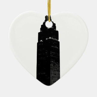 Schwarze u. weiße Pop-Kunst New York Keramik Ornament