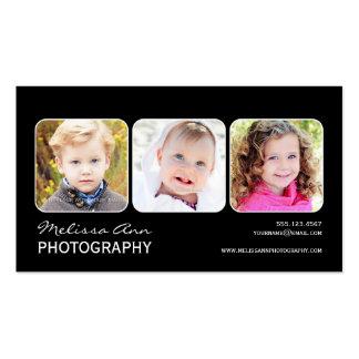 Schwarze u. weiße Porträt-Fotograf-Visitenkarte