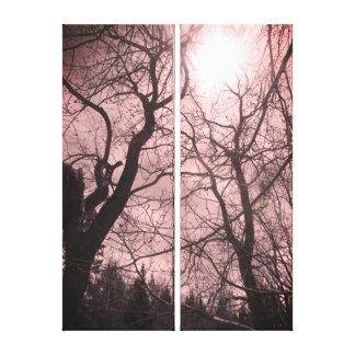 Schwarze u. weiße rosa Leinwand der abstrakten
